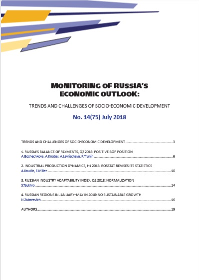 Monitoring of Russia's Economic Outlook No.14(75) July 2018